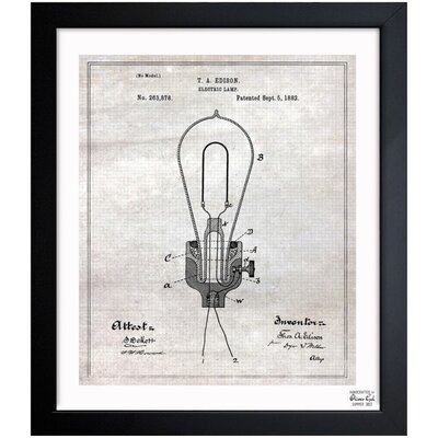 Borough Wharf Port Hueneme 'Edison Electric Lamp 1882' Framed Graphic Art
