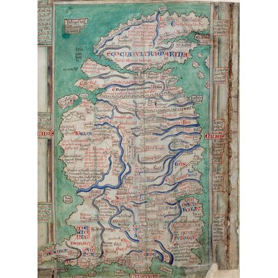 Borough Wharf Map Of Great Britain Graphic Art