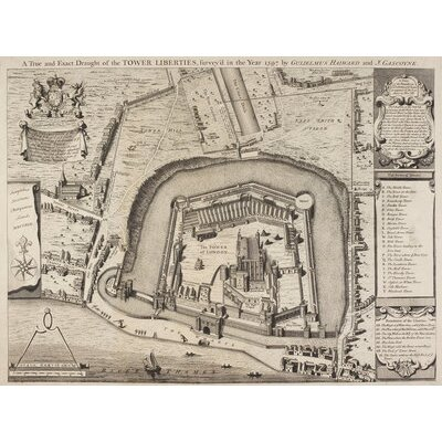 Borough Wharf A Plan Of The Tower Of London Graphic Art