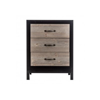 Borough Wharf Highway 65 3-Drawer Bedside Table