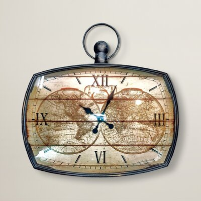 Borough Wharf Cercis Mapping The World 70cm Wall Clock