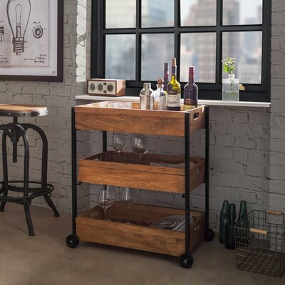 Borough Wharf Kitchen Cart with Wood Top