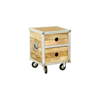 Borough Wharf Cottesmore 2 Drawer Bedside Table