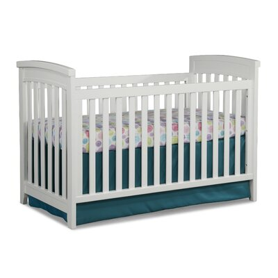 Midtown Cottage 3-in-1 Convertible Crib Color: White