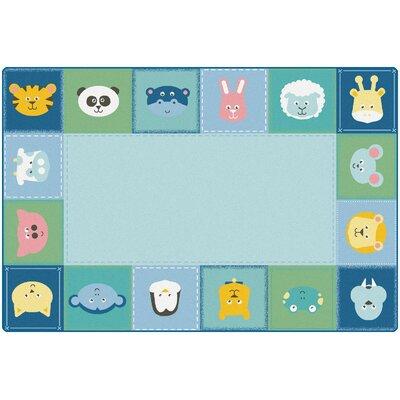 "KIDSoft Baby Animals Border Playmat Size: 0.31"" H x 96"" W x 144"" D"