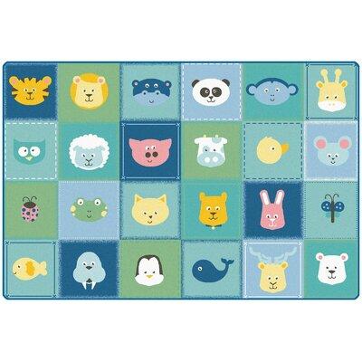 "KIDSoft Animal Patchwork Playmat Size: 0.31"" H x 48"" W x 72"" D"