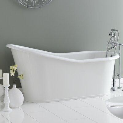 """Dakota 68"""" x 30"""" Soaking Bathtub Color: White Interior with White Exterior"""