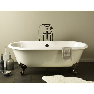 """Regal 61"""" x 31"""" Soaking Bathtub Feet Finish: Chrome, Color: Biscuit Interior with Biscuit Exterior"""