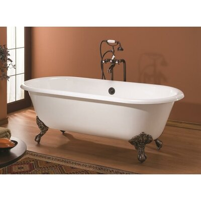 "Regal 61"" x 31"" Soaking Bathtub Color: Biscuit Interior with Custom Colour Exterior, Feet Finish: Polished Nickel"