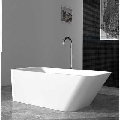 "Marco Solid Surface 67"" x 29.5"" Freestanding Soaking Bathtub"