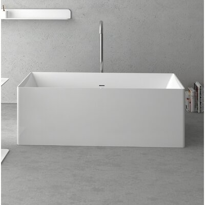 "Navona Freestanding Soaking Bathtub Size: 63"" L x 27.5"" W x 21.625"" D"