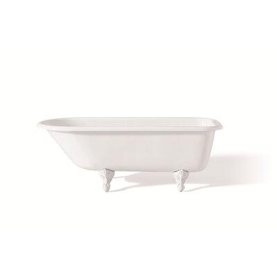 """54"""" x 30"""" Soaking Bathtub Color: White Interior with White Exterior, Feet Finish: White"""