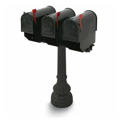 Underwood Post Mounted Multi-Family Mailbox with Post Included