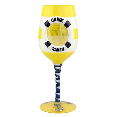 Woonsocket Funny 'Nauti Girl' 15 oz. All Purpose Wine Glass