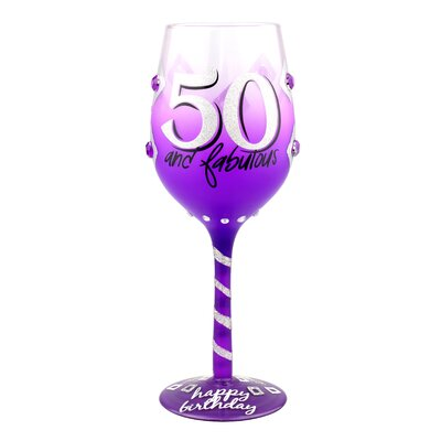 Exeter 50th Birthday 15 oz. All Purpose Wine Glass