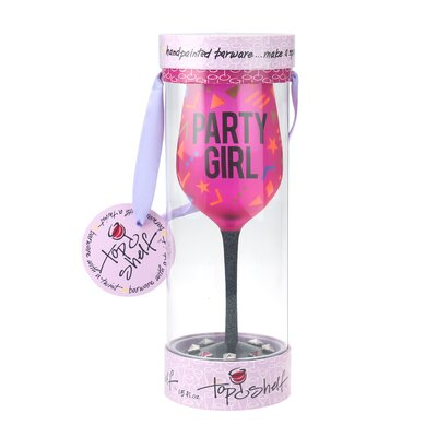 Portsmouth Fun 'Party Girl' 15 oz. All Purpose Wine Glass
