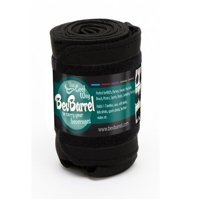 7 Can Beverage Barrel Cooler Color: Black