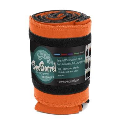 7 Can Beverage Barrel Cooler Color: Orange