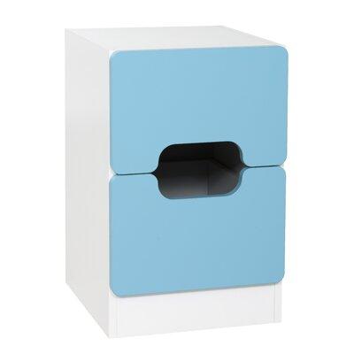 True Furniture Nachttisch Tolga mit 2 Schubladen