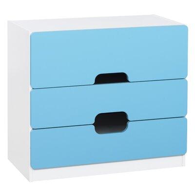 True Furniture Kommode Tolga mit 3 Schubladen