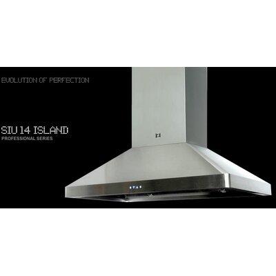 "38"" Professional Series 1100 CFM Convertible Island Range Hood"
