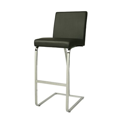 Jensen Bar Stool Seat Height: Upholstery, Upholstery: Black