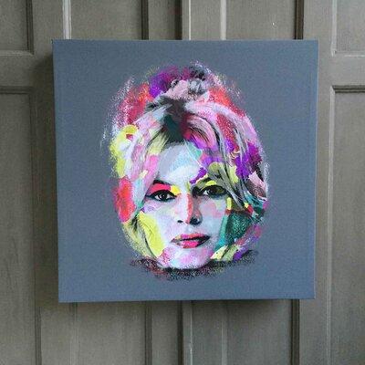 Amoloulou Bardot Flower Brigitte by Amoloulou Art Print Wrapped on Canvas