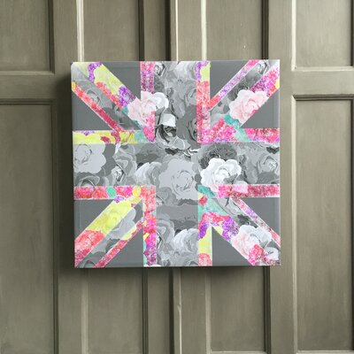Amoloulou Union Jack by Amoloulou Original Graphic Art Wrapped on Canvas