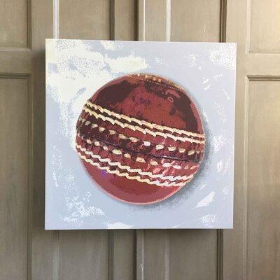Amoloulou Cricket Ball by Amoloulou Art Print Wrapped on Canvas