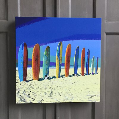 Amoloulou Surf Board by Amoloulou Original Graphic Art Wrapped on Canvas