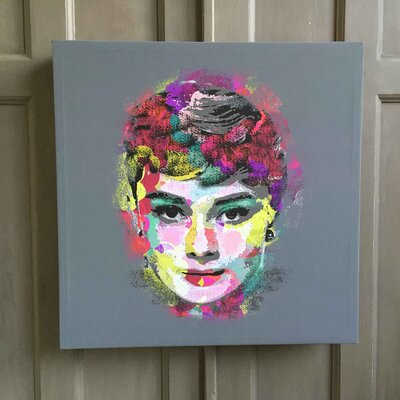Amoloulou Flower Audrey Hepburn by Amoloulou Art Print Wrapped on Canvas