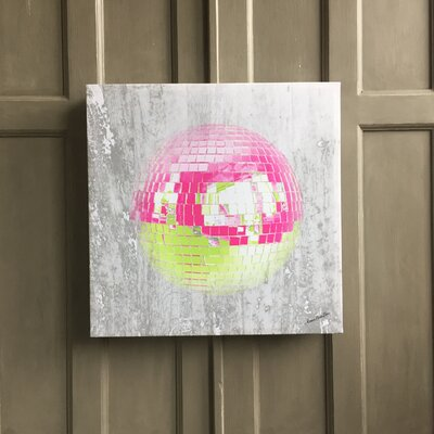Amoloulou Glitter Ball by Amoloulou Original Graphic Art Wrapped on Canvas