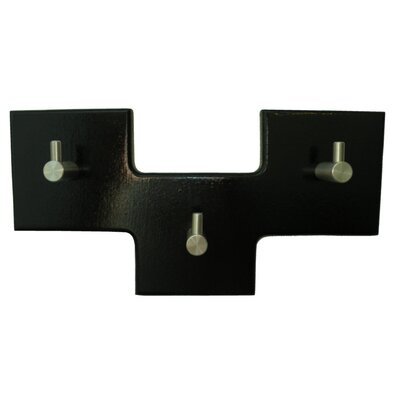 3 Square Offset Modern Coat Rack Finish: Navy Blue