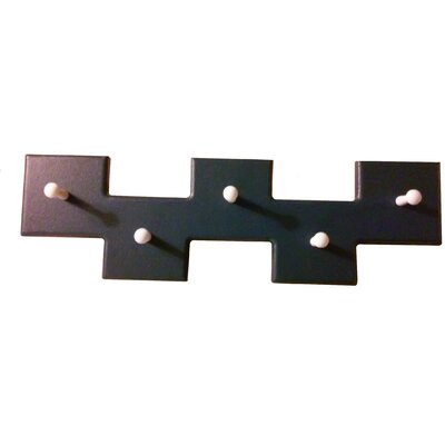 5 Square Offset Modern Coat Rack Finish: Navy Blue