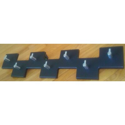 7 Square Offset Modern Coat Rack Finish: Navy Blue