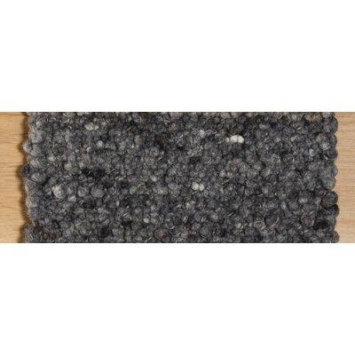 Jordan Teppiche Handgearbeiteter Teppich Seefeld in Anthrazit