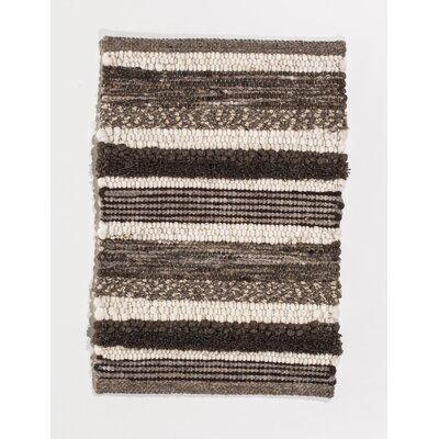 Jordan Teppiche Handgearbeiteter Teppich Island in Braun