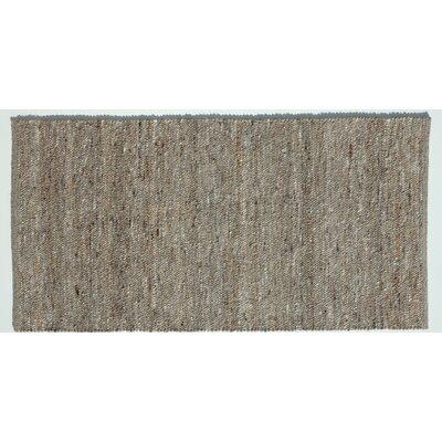Jordan Teppiche Handgearbeiteter Teppich Rofan in Mittelbraun