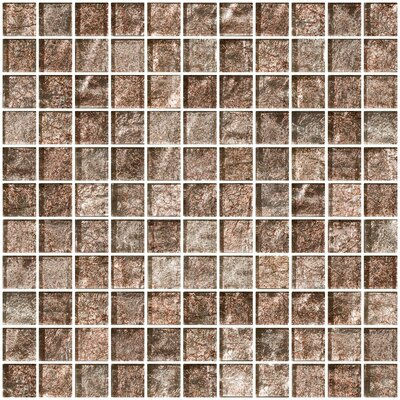 """1"""" x 1"""" Glass Mosaic Tile in Silver Taupe"""