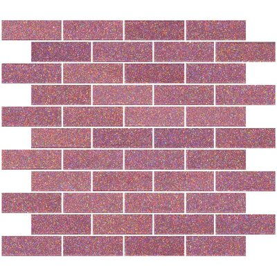 """1"""" x 3"""" Glass Subway Tile in Pink"""