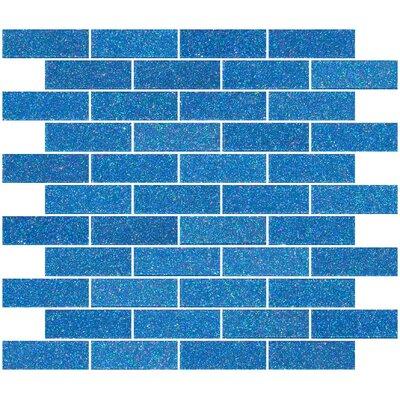 "1"" x 3"" Glass Subway Tile in Denim Blue"