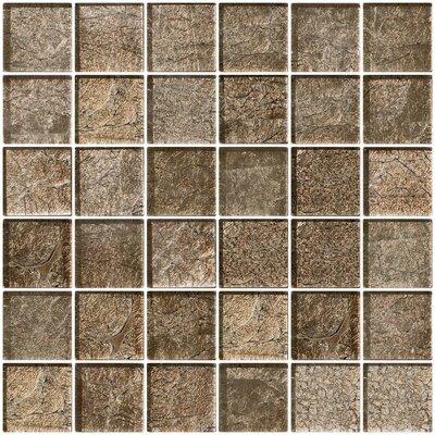"2"" x 2"" Glass Mosaic Tile in Cocobean Sheen"
