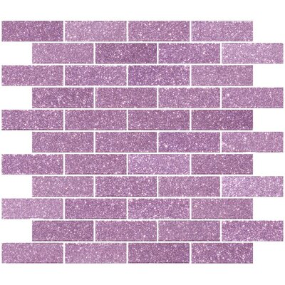 """1"""" x 3"""" Glass Subway Tile in Barbie Pink"""