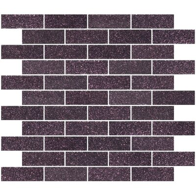 "1"" x 3"" Glass Subway Tile in Purple Plum"