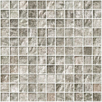 """1"""" x 1"""" Glass Mosaic Tile in Crushed Crystal"""