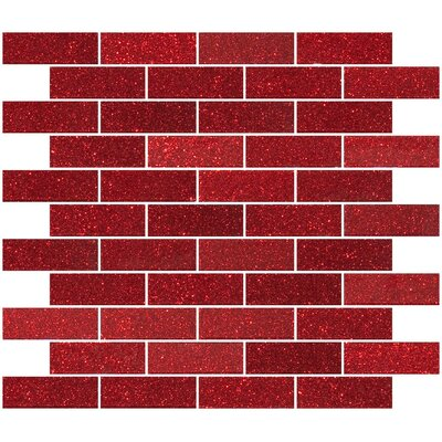 """1"""" x 3"""" Glass Subway Tile in Glossy Red"""