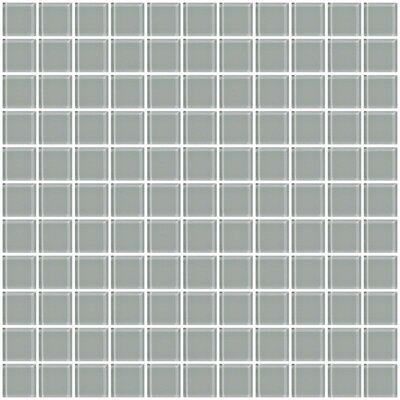 """1"""" Gray Glass Tile (Set of 2)"""