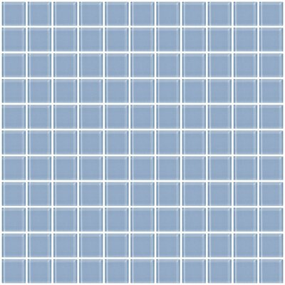 """1"""" x 1"""" Glass Mosaic Tile in Pale Sky Blue"""