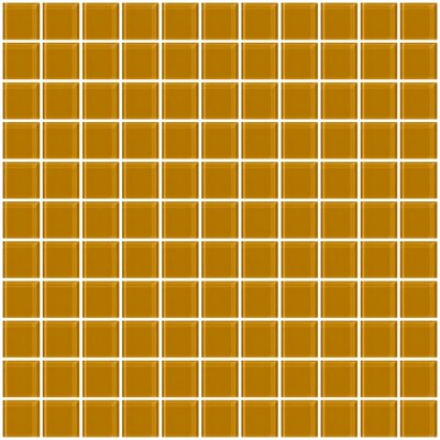 """1"""" x 1"""" Glass Mosaic Tile in Glossy Caramel brown"""