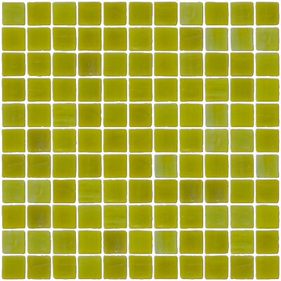 """Architect's Overstock Opaque 1"""" x 1"""" Glass Mosaic Tile in Chartreuse"""